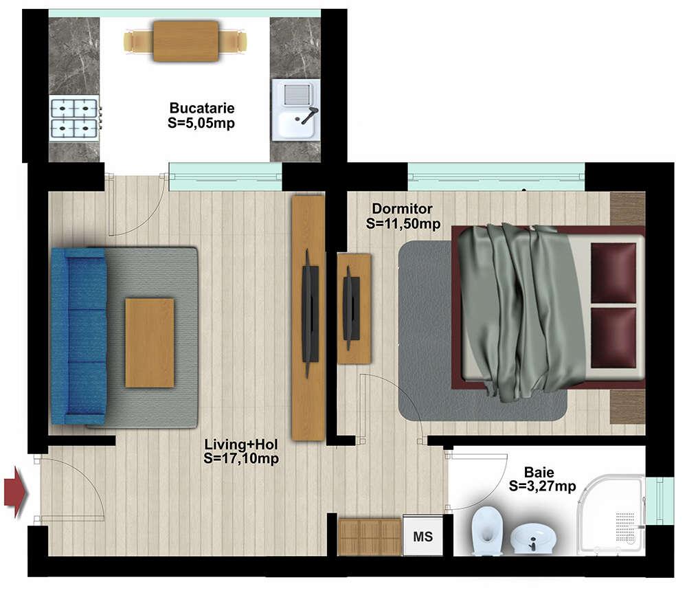 Studio 2 Camere